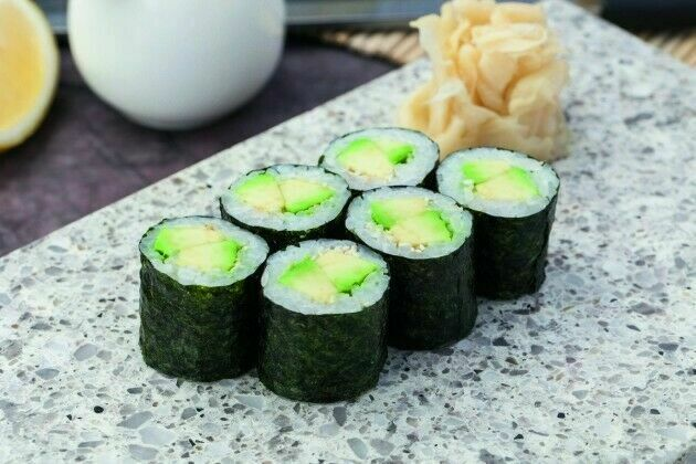 Roll with avocado