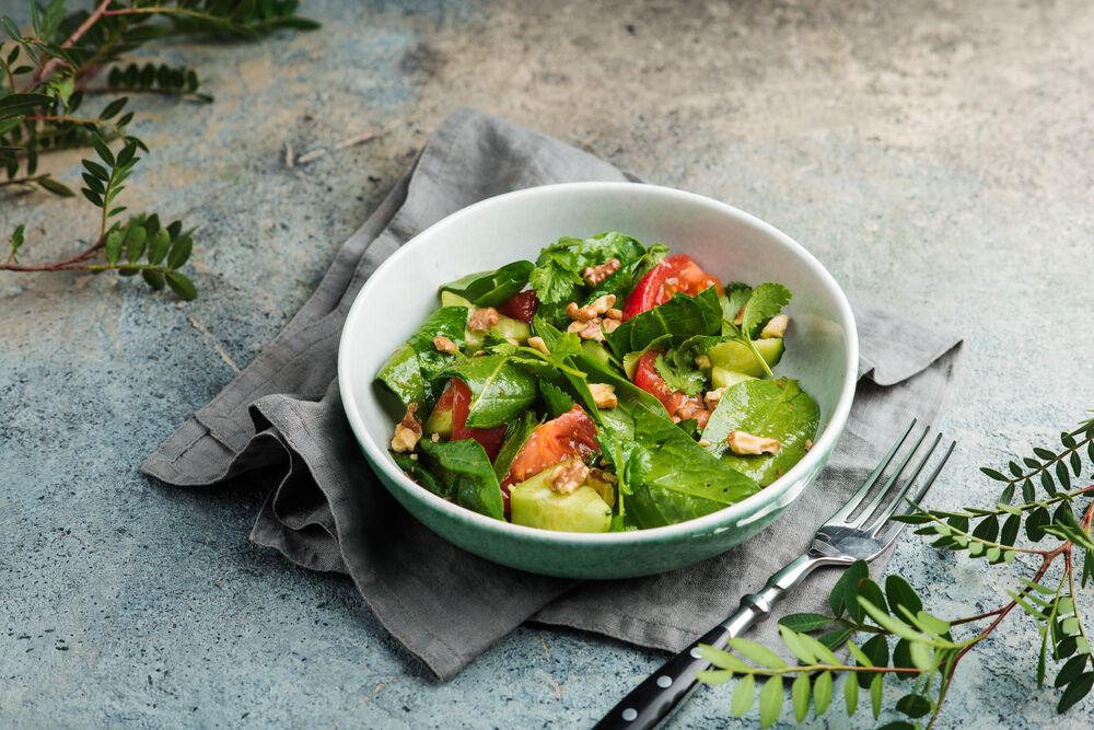 Vegetable salad with Kakheti oil