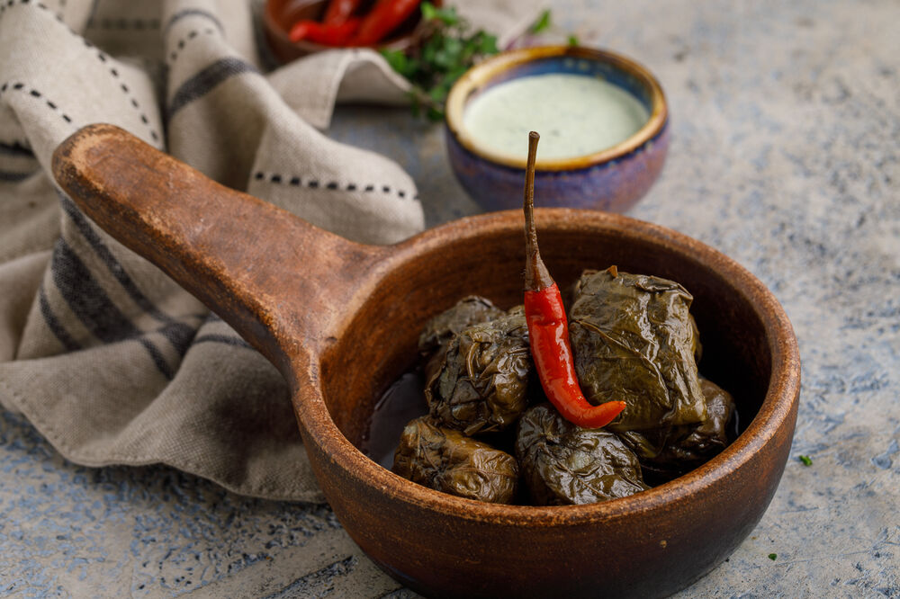Dolma with pork and beef