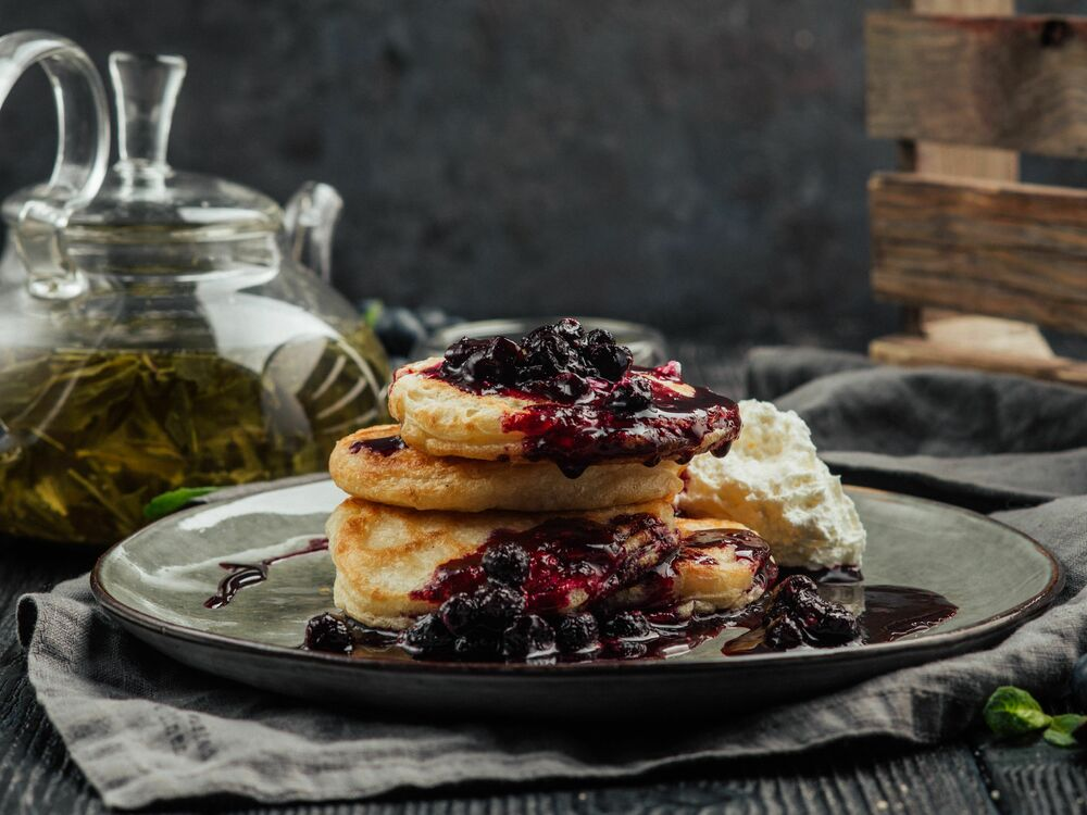 Fritters with cottage cheese