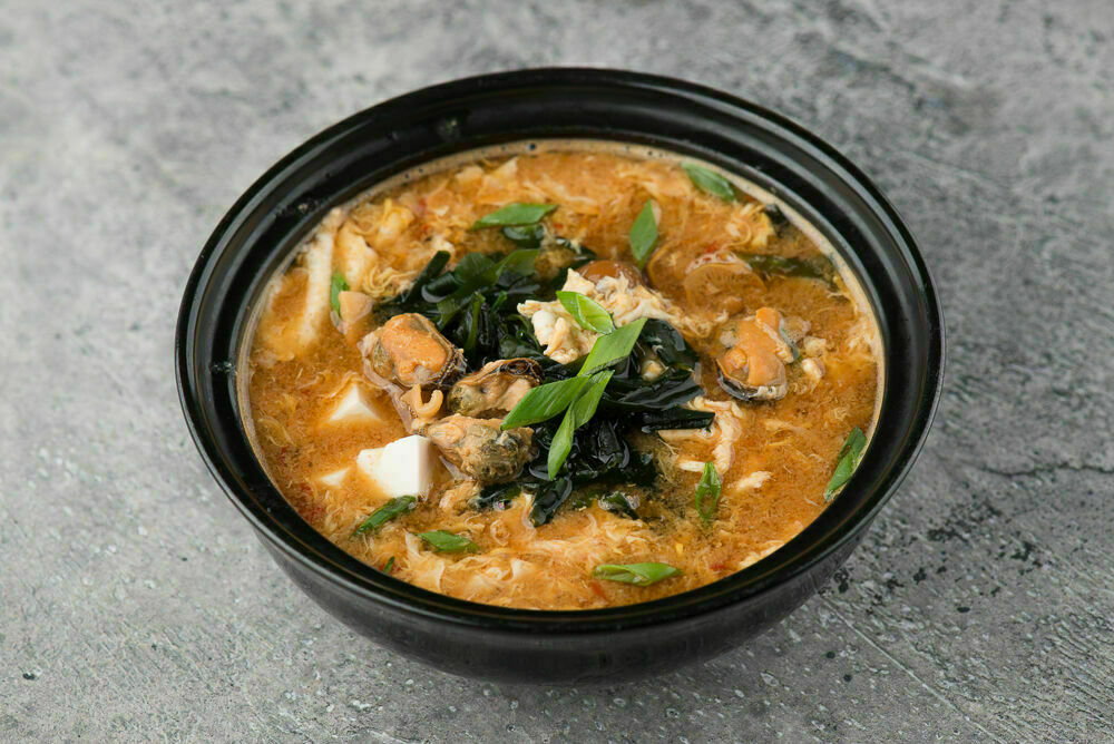 Spicy kimchi soup