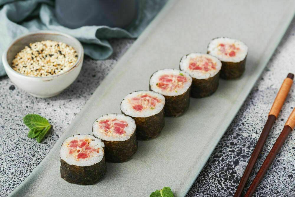 A classic rolls with tuna