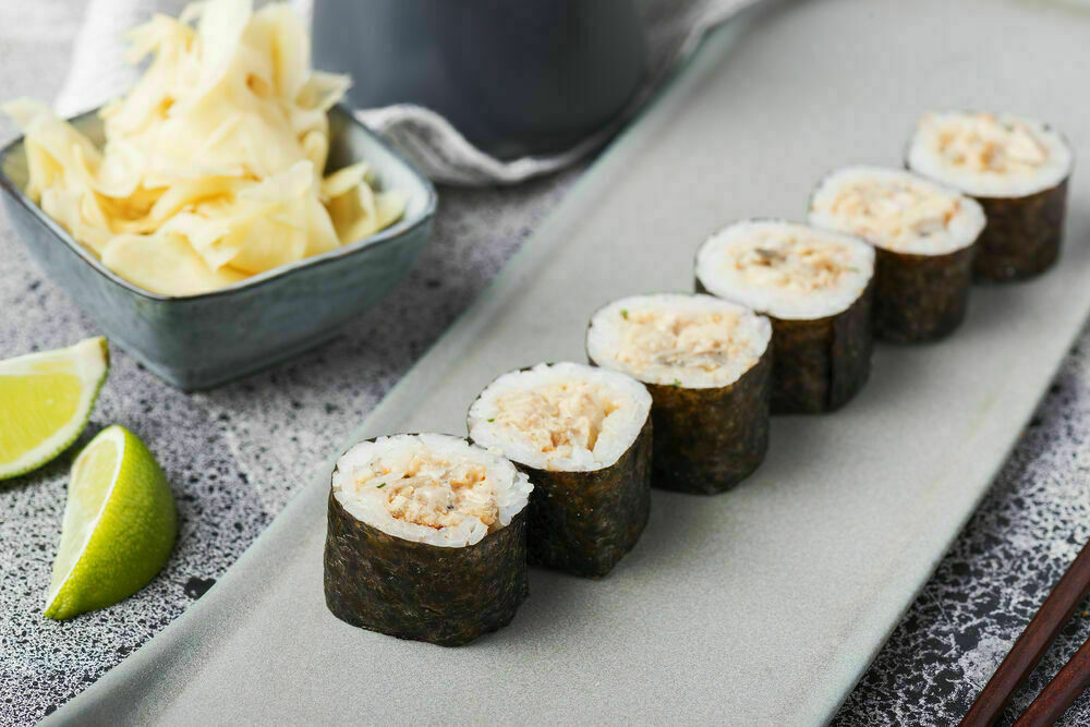 Spicy classic rolls with eel