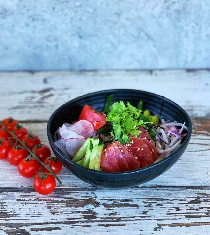 Poke with tuna