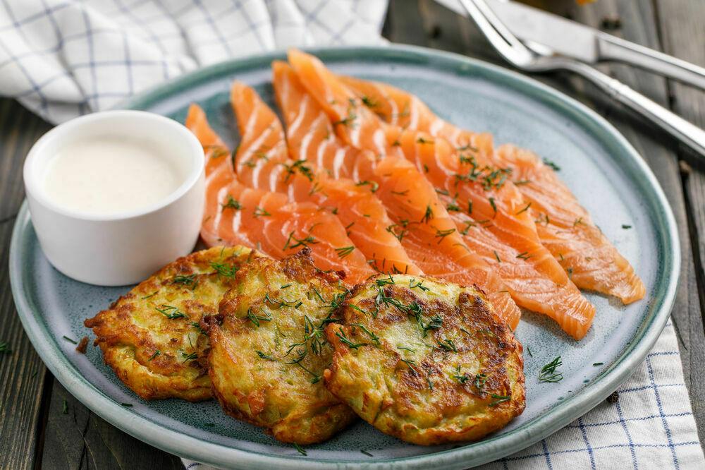 Chef salted salmon