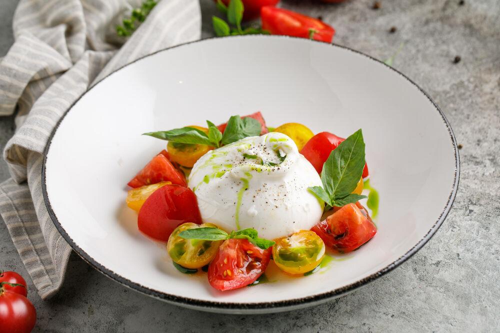 Buratta with Tomatoes