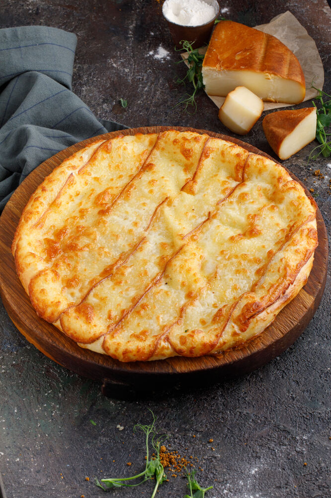 Khachapuri with smoked cheese