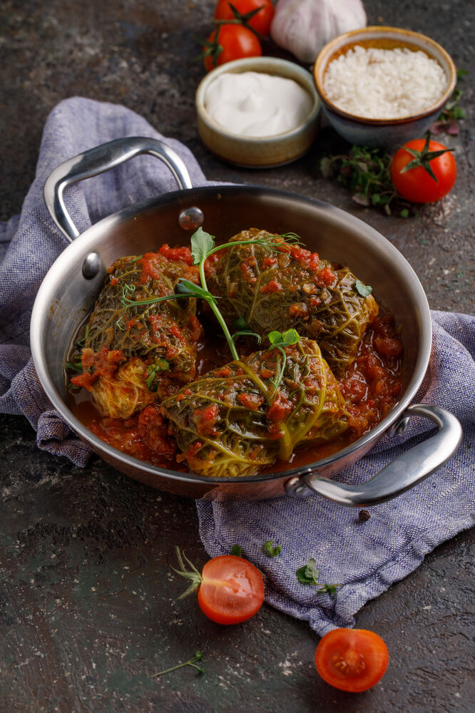 Cabbage rolls with meat (pork - beef)