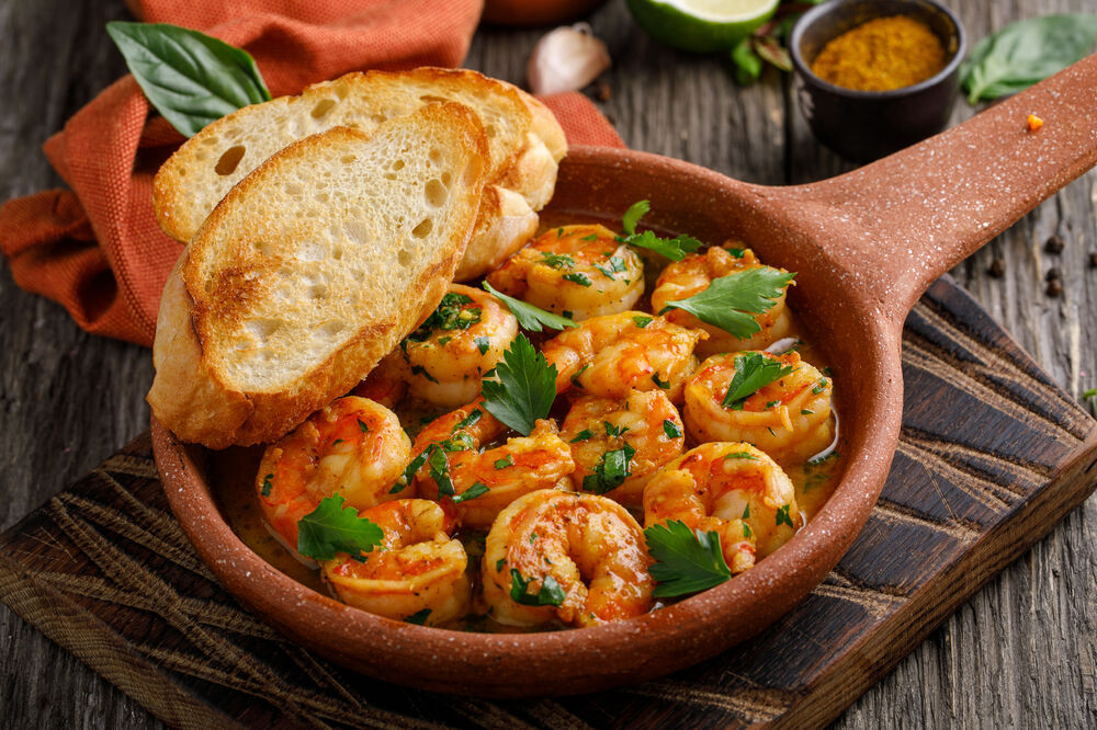 Georgian fried shrimps