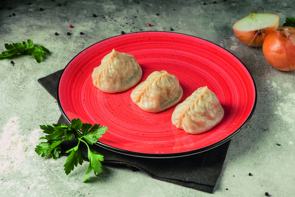 Oriental dumplings with lamb