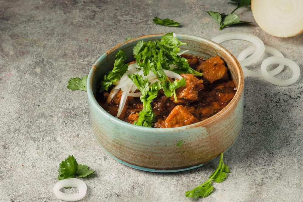 Georgian style solyanka meat soup