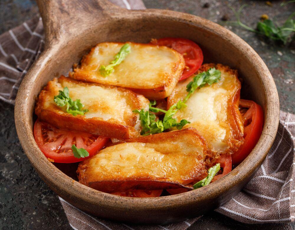 Fried Suluguni cheese