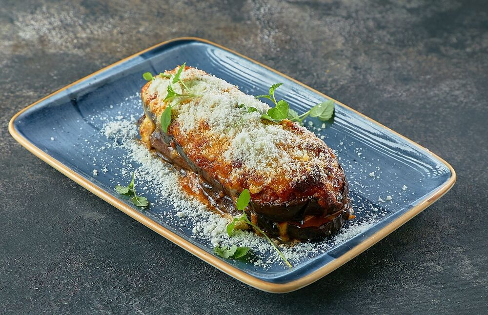 Puff eggplant with meat