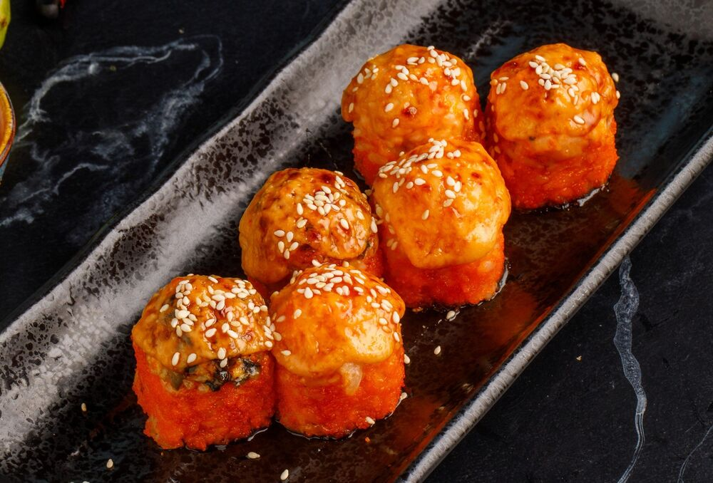 Baked roll with crab