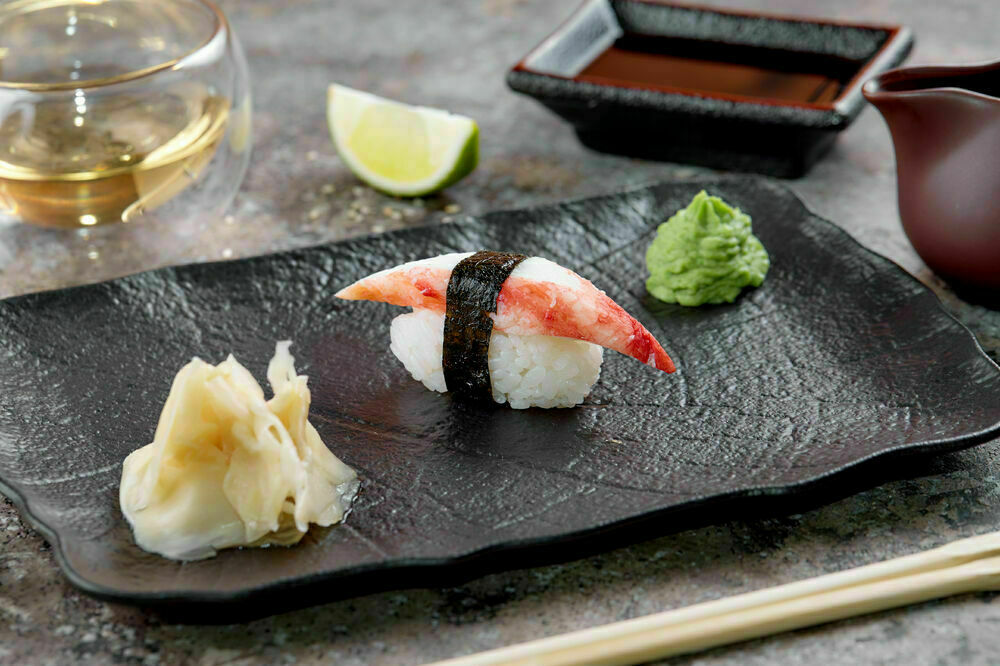 Sushi with crab