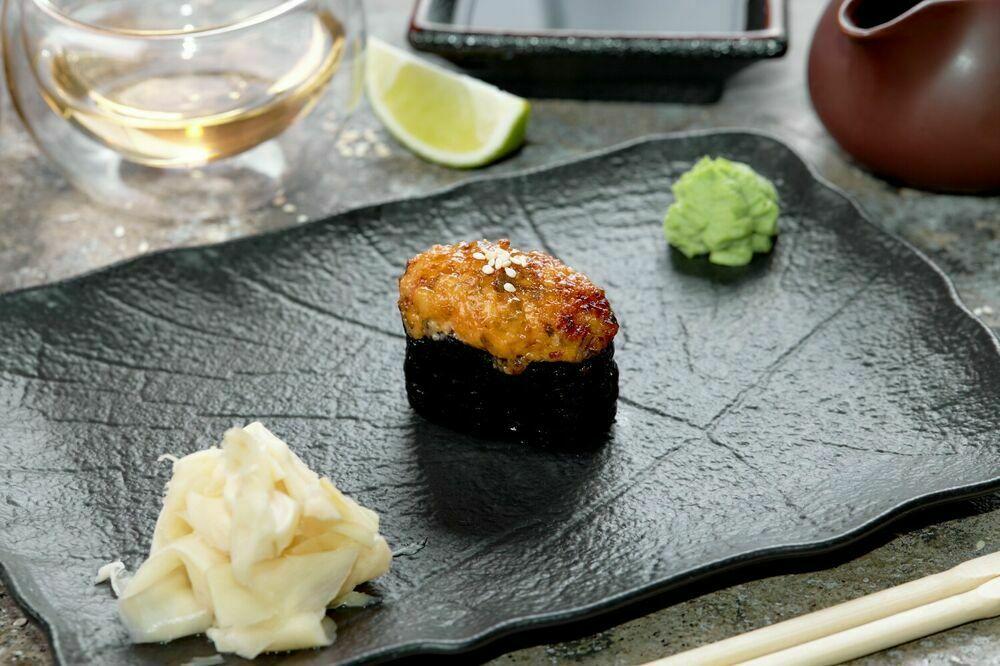 Baked eel sushi