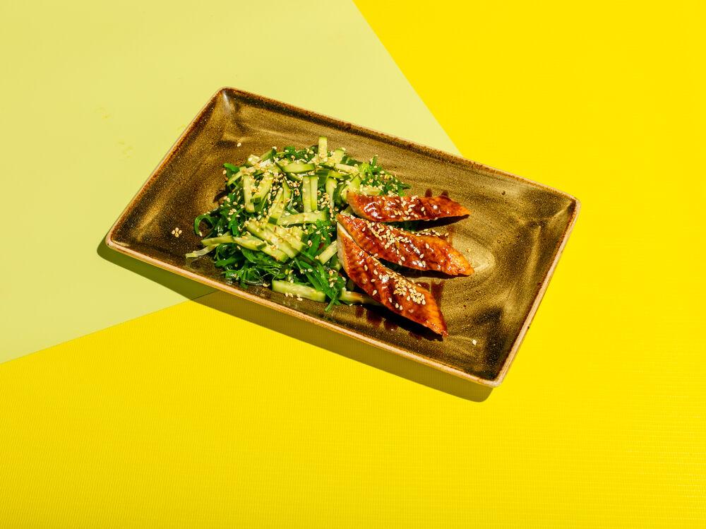 kaiso salad with eel
