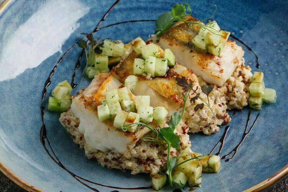 Pike perch with quinoa