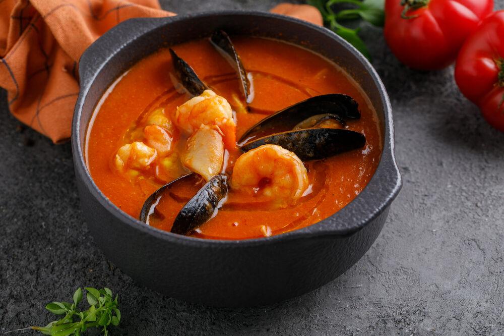 Buzara soup with seefood