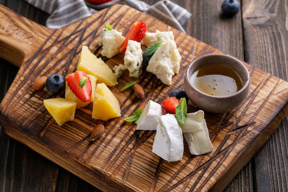 Assorted European cheeses