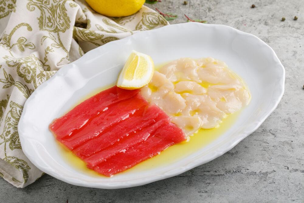 Scallop crudo/Tuna crudo