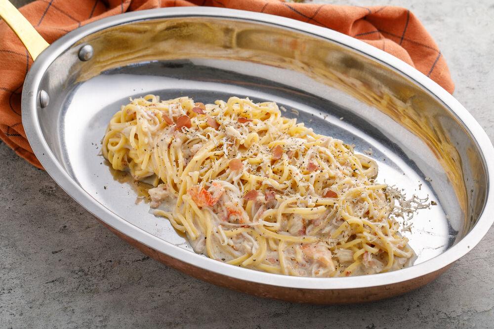 Crab Carbonara  
