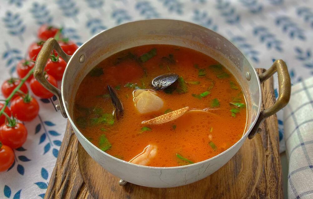 Sakhalin seafood soup