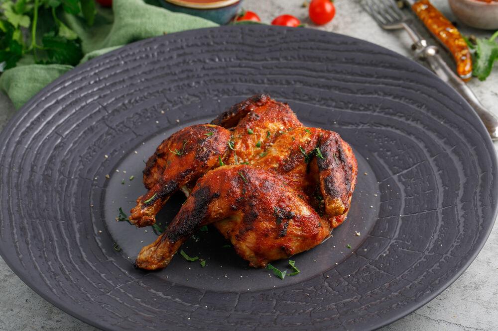 Grilled chiken with adjika