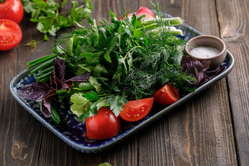 Seasonal vegetables and herbs