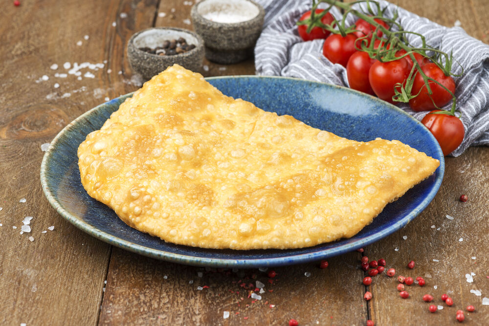 Cheburek with veal