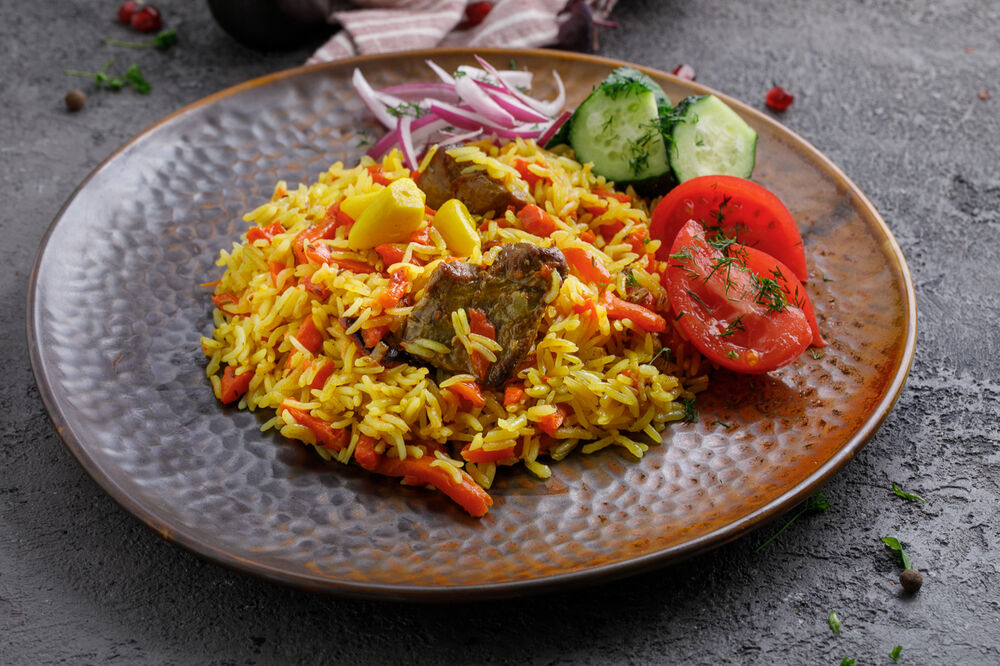 Pilaf with lamb