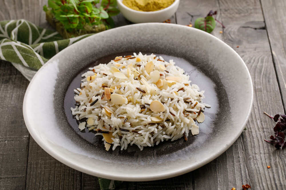 Wild rice with vegetables