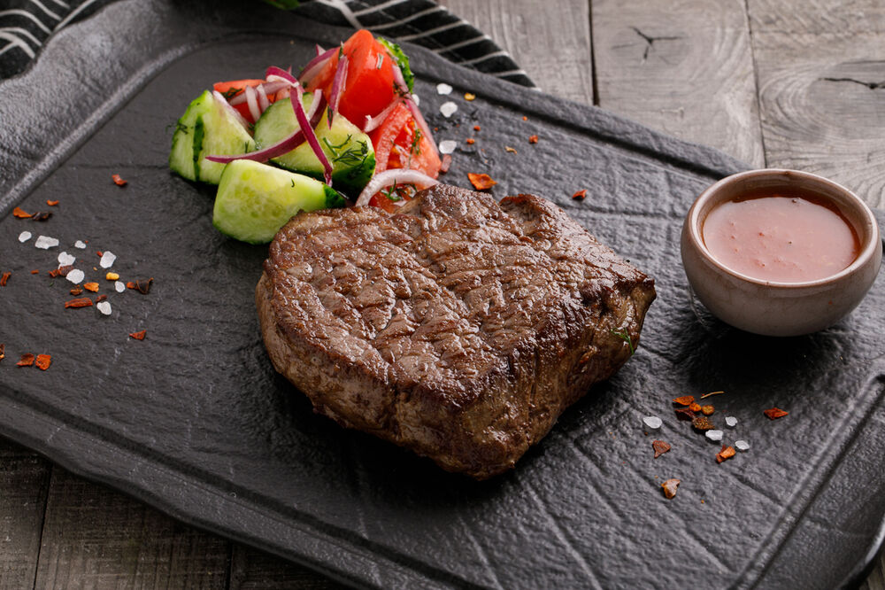 Grilled veal tenderloin