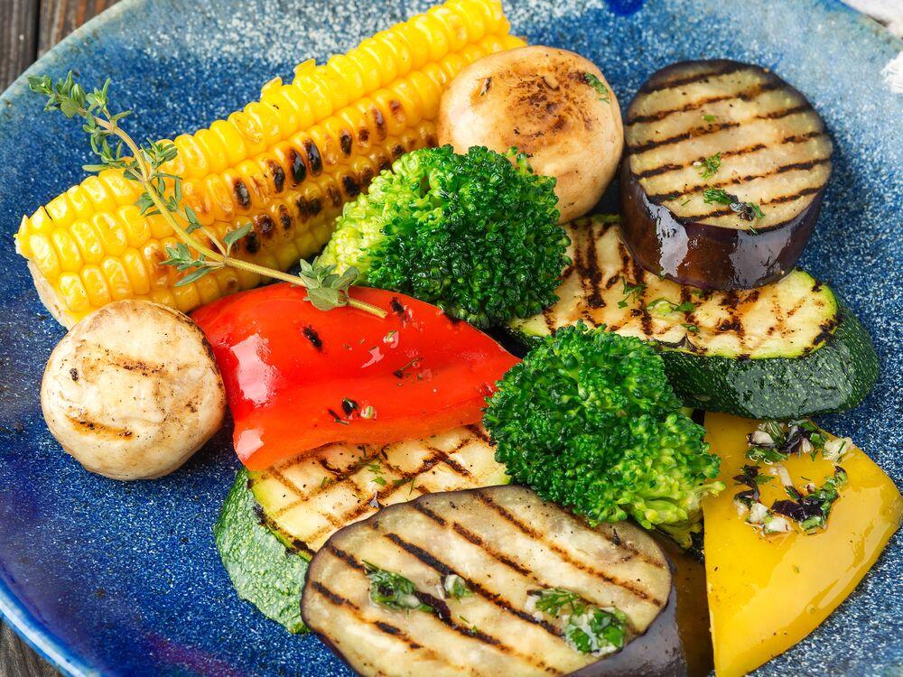 Grilled or steamed vegetables