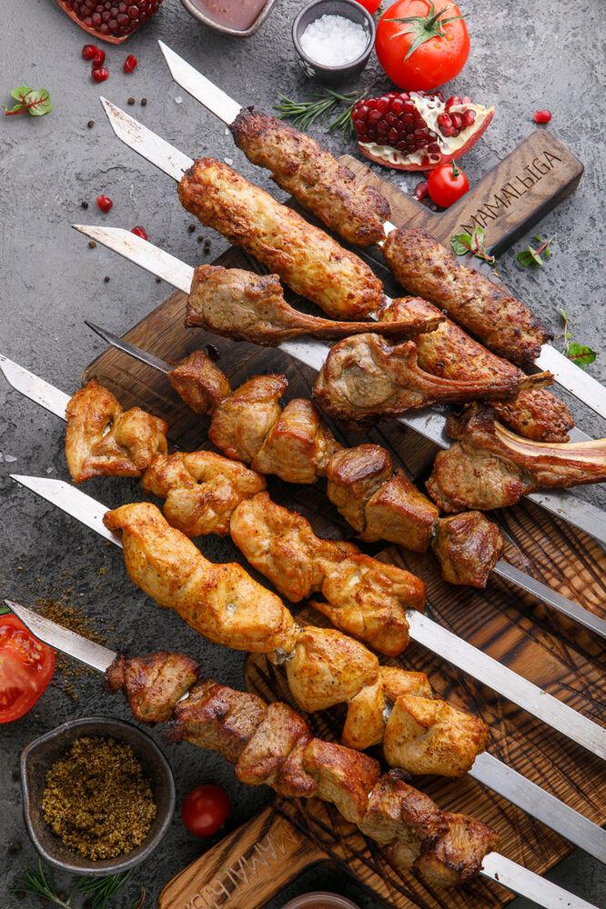 Shish-kebab of lamb fillet