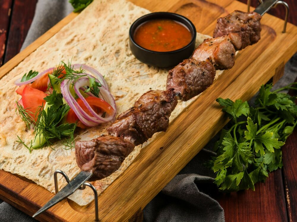 Shish-kebab of lamb fillet