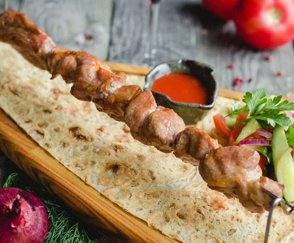 Shish-kebab of veal