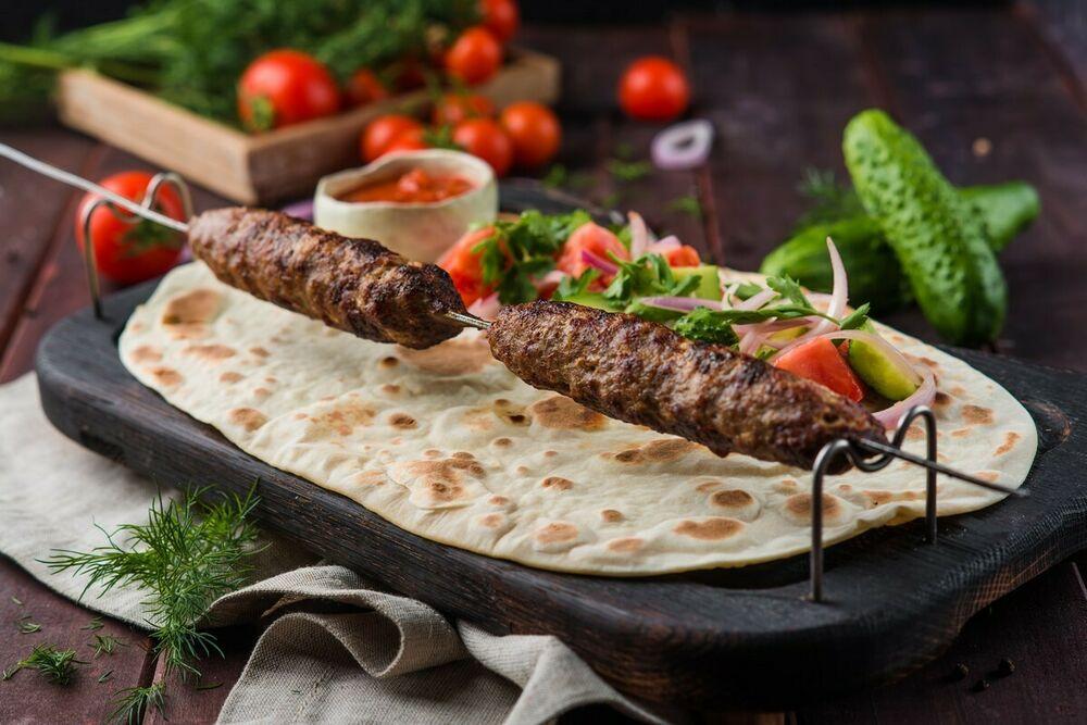 Lyulya-kebab of mutton