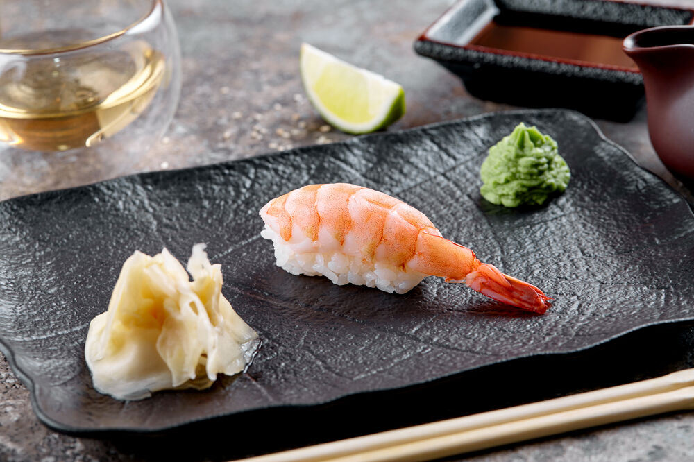 Sushi with shrimp