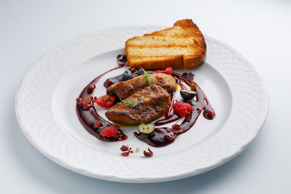 Foie Gras with berries