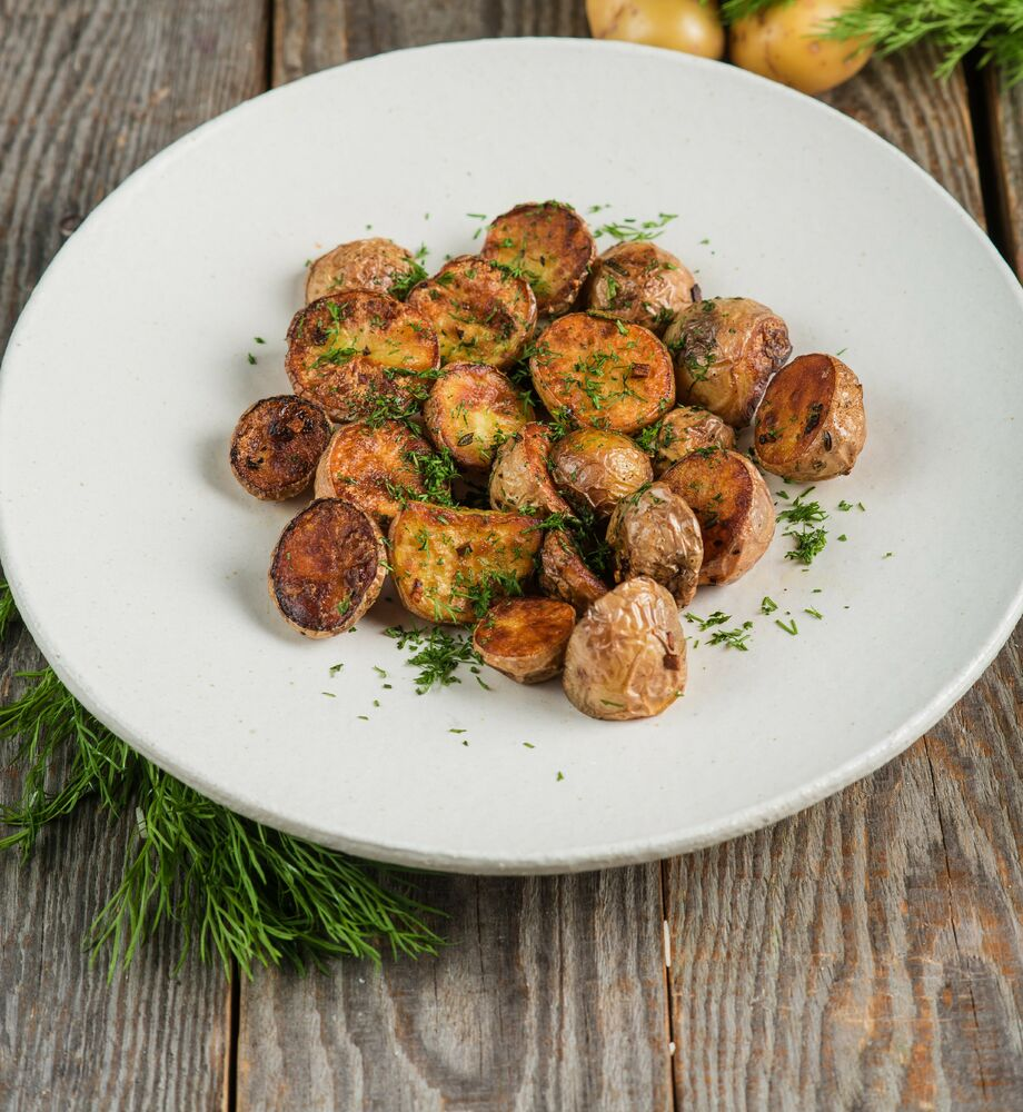 Baked mini-potatoes