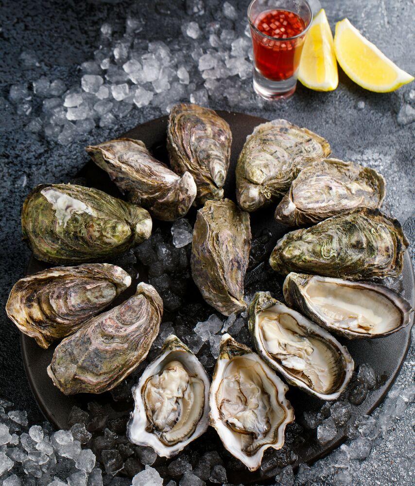Twelve oysters