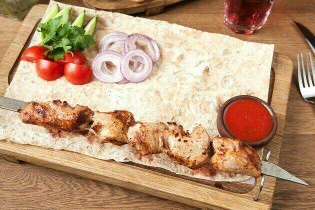 Veal shish-kebab