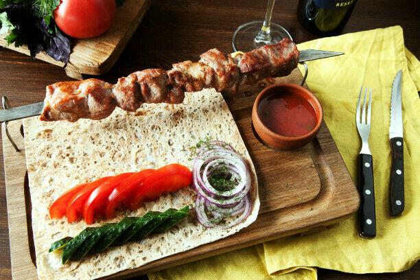 Lamb fillet shish-kebab