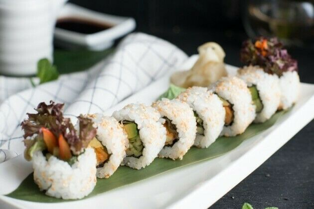 Vegan roll with paprika