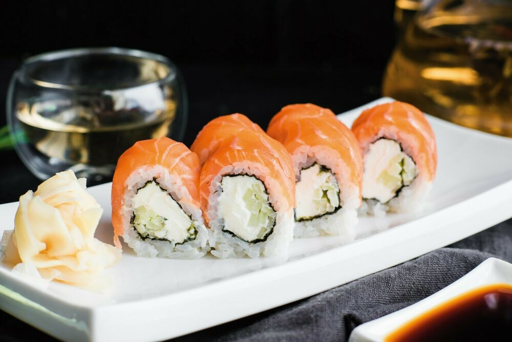 Philadelphia with salmon