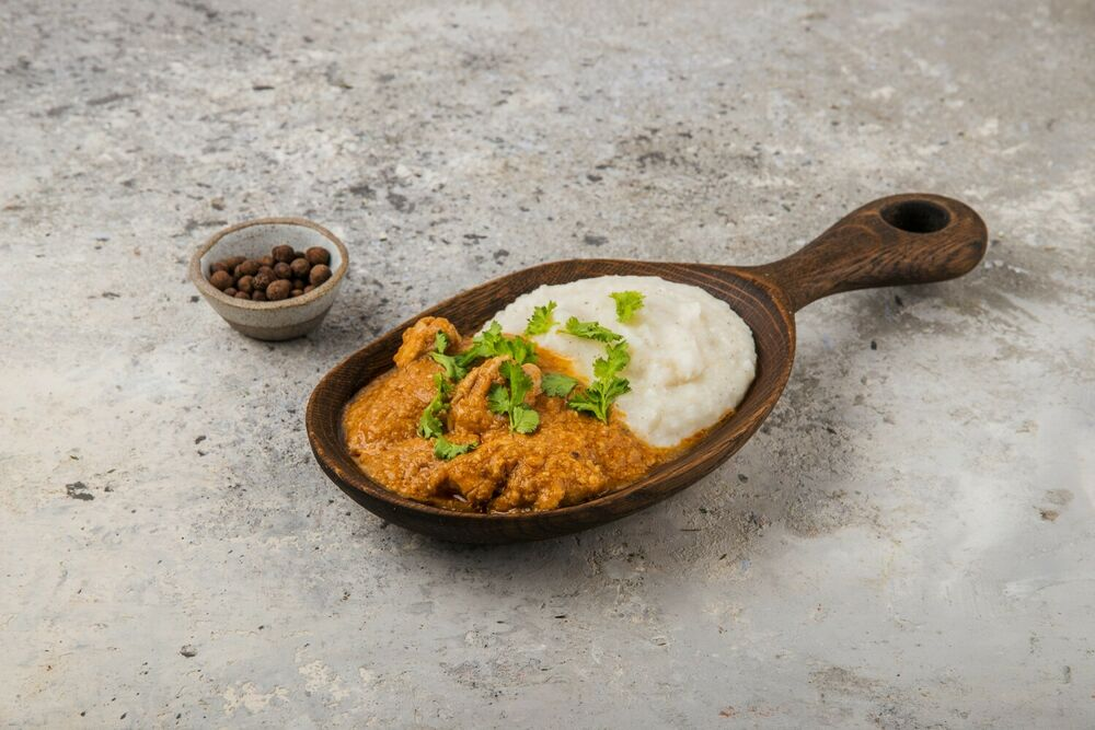 Harcho in Megrelic from chicken with mamalyga