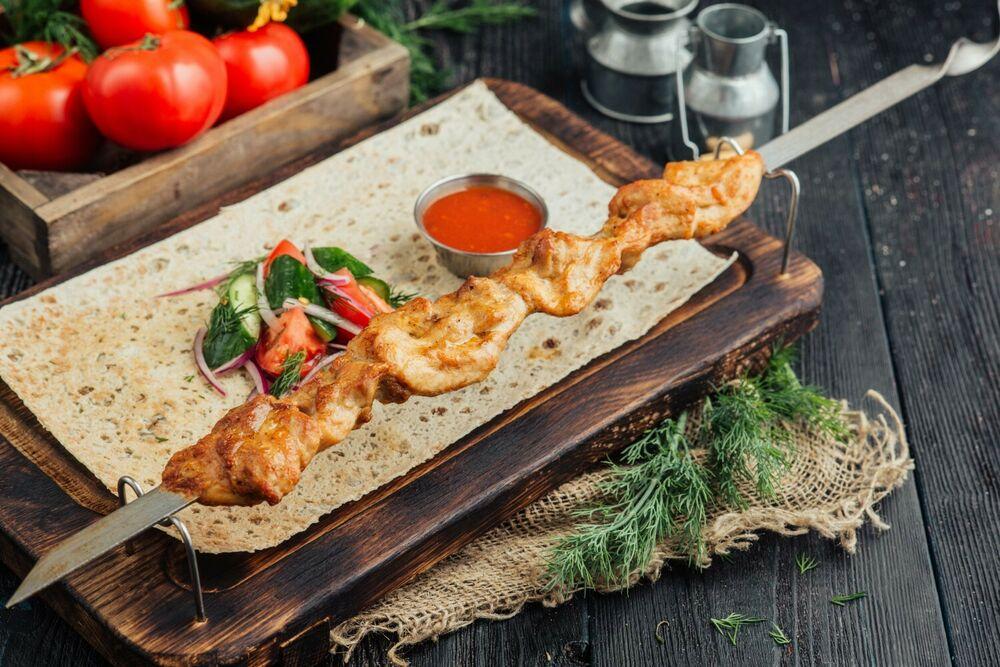 Chicken leg shashlik