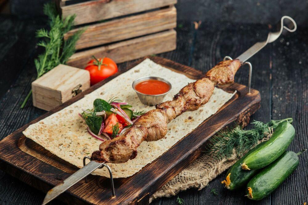 Lamb fillet shashlik