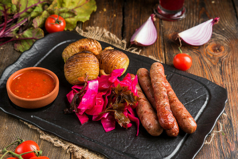 Beef grilled sausages